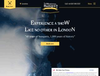 medievalbanquet.com screenshot
