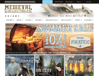 medievalcollectables.com screenshot
