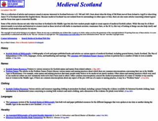 medievalscotland.org screenshot