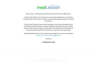 medilexicon.com screenshot
