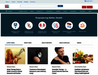 medindia.net screenshot