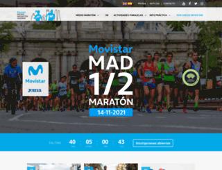 mediomaratonmadrid.es screenshot