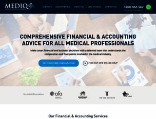 mediqfinancial.com.au screenshot