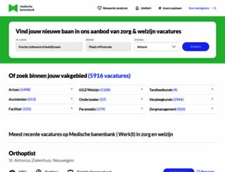 medischebanenbank.nl screenshot