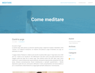 meditare.weebly.com screenshot
