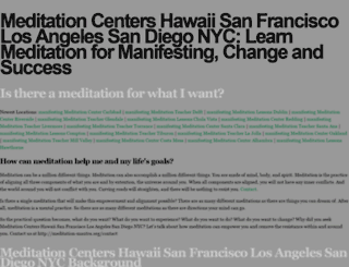 meditation-mantra.org screenshot