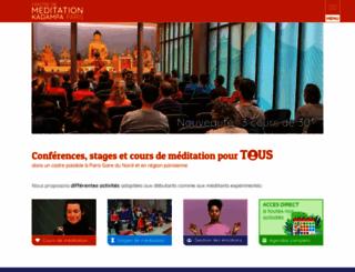 meditation-paris.org screenshot