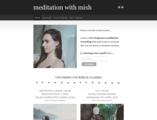 meditationwithmish.com screenshot