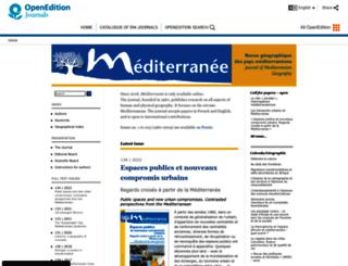 mediterranee.revues.org screenshot
