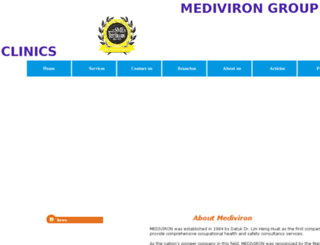 mediviron.com screenshot