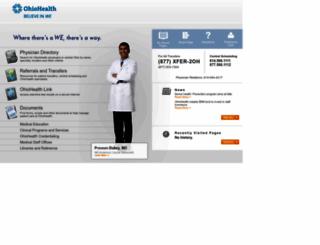 medprofessionals.ohiohealth.com screenshot