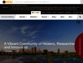 medschool.vcu.edu screenshot