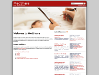 medshare.soton.ac.uk screenshot