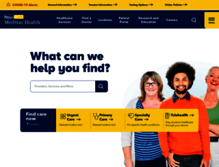 medstarhealth.org screenshot