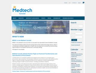 medtechcanada.org screenshot