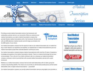 medtrans.net screenshot