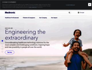 medtronic.eu screenshot