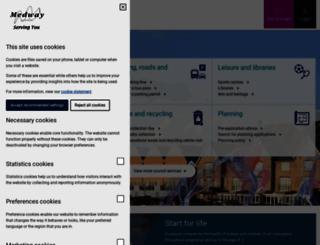 medway.gov.uk screenshot