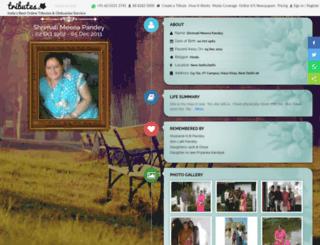 meena-pandey.tributes.in screenshot