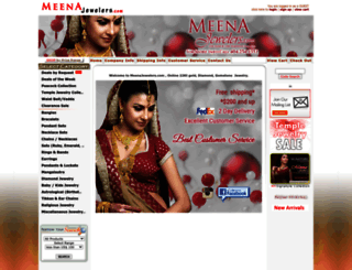 meenajewelers.com screenshot