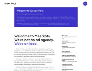 meerkats.com.au screenshot
