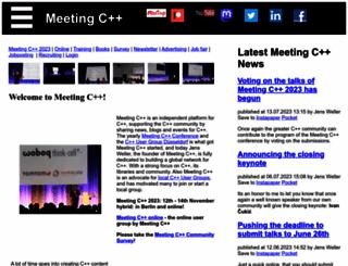 meetingcpp.com screenshot