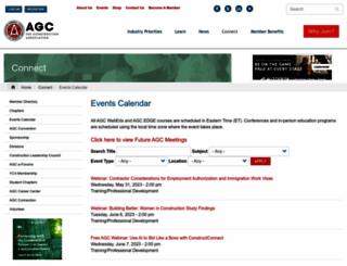 meetings.agc.org screenshot