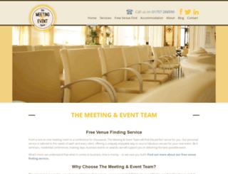 meetingseventsteam.co.uk screenshot