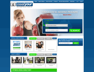 meetyourboxingtrainer.com.au screenshot
