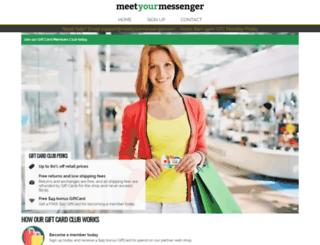 meetyourmessenger.com screenshot