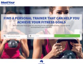 meetyourpersonaltrainer.com.au screenshot