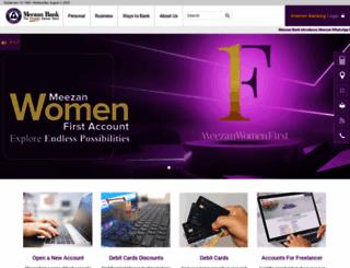 meezanbank.com screenshot
