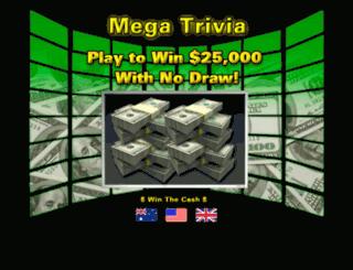 mega-trivia.com screenshot
