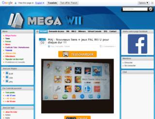mega-wii.com screenshot