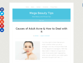 megabeautytips.com screenshot