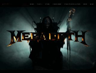 megadeth.com screenshot