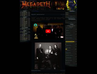 megadeth.magres.net screenshot