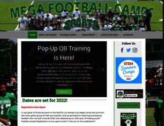 megafootballcamps.com screenshot