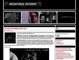 megaforcerecords.com screenshot