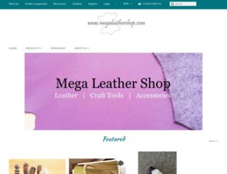 megaleathershop.com screenshot