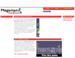 megamanflashgames.com screenshot
