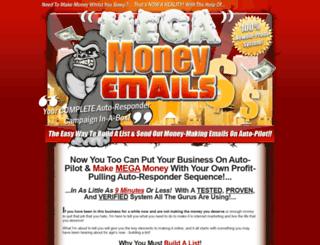 megamoneyemails.com screenshot