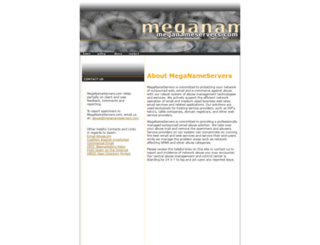 meganameservers.com screenshot