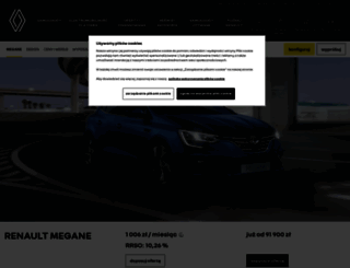 megane.renault.pl screenshot