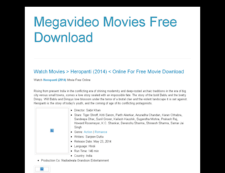 megavideomovies2016.blogspot.com screenshot