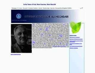 meghdari.sharif.edu screenshot