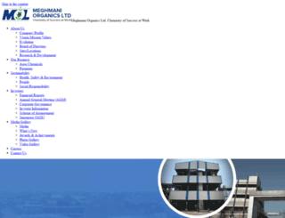 meghmani.com screenshot