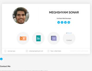 meghshyam.com screenshot