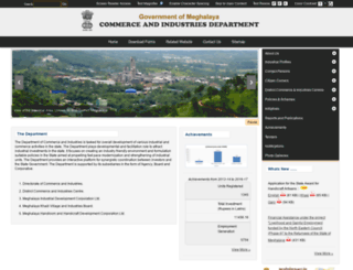 megindustry.gov.in screenshot