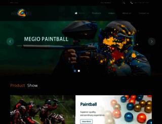 megiopaintball.com screenshot